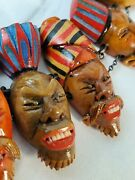 Antique Museum Quality African Tribal Face Trade Necklace.