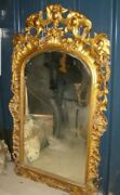 Louis Xv Large Giltwood Mirror C1880 Trandegraves Rococo Gorgeous Carving . Crated.