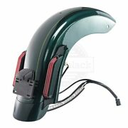 Deep Jade Pearl Cvo Style Rear Fender System For 14-2020 Harley Davidson Touring