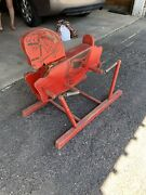 Vintage The Wonder Horse Wooden Red Rocking Horse 1940s Riding Toy