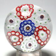 Antique Baccarat Roundels Or Circlets Millefiori Paperweight