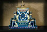 Ancient Egyptian Pharaoh's Offering Desk Clock Office Home Decor Collectible