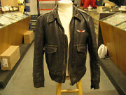 1940s 1950s Leather Jacket Toronto Label With Canada Red Maple Leaf Pilot Wing