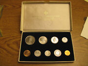 Beautiful Union Bank Of Switzerland Ubs Sbg 1963 To 1969 Mixed Date Coin Set