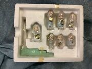 1989 Enesco Precious Moments Mini Pewter Wedding Party Set - Used Great Cond.