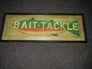 Bait And Tackle Reproduction Wooden Sign