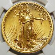 1907 Ngc Ms65 High Relief Wire Edge 20 St. Gauden