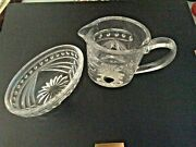 2 Pc. Waterford Crystal Overture 1998-2008 Creamer And Sugar Bowl Set Oval Sha