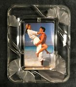 Mikasa Crystal Tender Moments Frame Fits 4 X 6 Photo Frosted Floral Accents