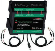 New Dual Pro Rs2 12 Amp Battery Charger 12v/24v Boat Wet Cell Agm 2 Bank