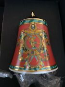 Versace Christmas Bell Ornament King Rosenthal Rare Discontinued Sale