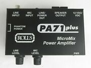 Rolls Pa71 Plus Micro Mix Power Amplifier - New Old Stock, Free Shipping