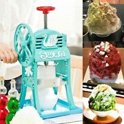 Swan Snow Cone Hawaiian Shave Cube Ice Shaver Manual Iron Made Courier Shipment
