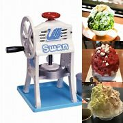 Swan Snow Cone Hawaiian Shave Ice Maker Manual Cast Iron Made Courier Shipment