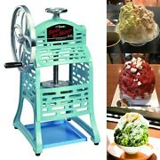 Swan Professional Snow Cone Hawaiian Shave Ice Maker Iron Manual Ship By Courier