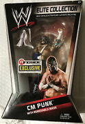 Cm Punk W/ Removable Mask Straight Edge Society Ringside Exclusive Rare Elite T2