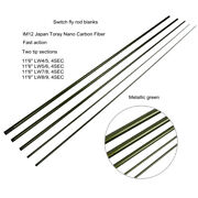 Aventik Im12 Nano Carbon Switch Fly Rod Blanks 11'6'' 4sec Fast Action, Two Tips