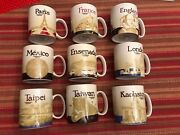 Starbucks Lot Of 9 Global Icon Mugs All Different,16 Oz All W/sku All From 2014