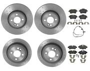 Brembo Xtra Front And Rear Brake Kit Drilled Rotors Low-met Pads For Mini R56 R57