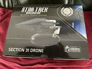 Star Trek Discovery Tv Series Section 31 Model Drone Ship With Magazine.
