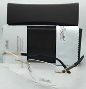 Silhouette Eyeglasses Carbon Intarsia 5404 20 6051 23k Gold Plated And Black Frame