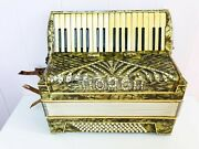 1930and039s Unusual Vintage German Accordion Horch 80 Bass Weltmeister In Case