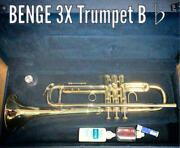 rare Benge 3x Trumpet B Usa Wind Instrument W/ Hard Case Shipped From Japan
