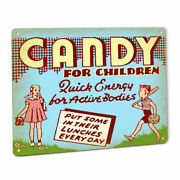 Candy Display Sign Retro Boy Girl Vintage Advertising Gum Snack Store Stand 39