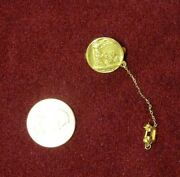 Antique 1919 14 K Yellow Gold Pin Nat. Fed. Of Bus. And Pro Women