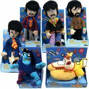 Beatles Collectible 2012 Yellow Submarine Band Members Plush Doll Set Figures