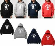 A Bathing Ape Menand039s Pullover Hoodie Relaxed Classic College Fast Ship Japan Ems