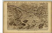 1919 Map St. Mihiel Salient American Victory Usa Wwi World War I Rotogravure
