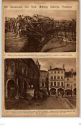 1917 Rotogravure Picture Wwi Red Cross First Aid Station France French Big Gun