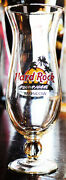 Hard Rock Cafe Moscow Russia Hurricane Cocktail Glass Barware Glassware 9.5