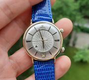 Vintage Jaeger Lecoultre 14k Solid Gold Memovox World Timer Watch 1960andrsquos Jlc