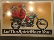 Harley Davidson Christmas Cards X731 Santa W/gifts Let The Spirit Move You 10