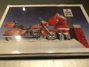 Harley Davidson Christmas Cards X734 Santa On Roof With His Harley And Gifts 10