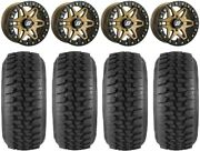 Sedona Split 6 Bdlk 14 Wheels Br +30mm 30 Desert Series Tires Rzr Xp 1k / Pro