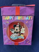 Disney Pin Mickey Mouse Happy Birthday Cake W/ Candle And Party Hat Horn Nib