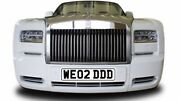 Private Number Plates We02ddd Rolls Royce Wedding Weds