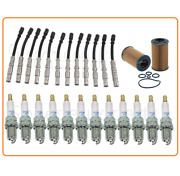 Tune Up For 98-05 Mercedes Benz Clk 320 Ml350 3.7v6 Sparkplugs Wireset Oilfilter