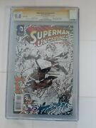 Superman Unchained 1 Cgcs 9.8 Sketch Cover Signed By Jim Lee And Scott Snyder