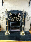 Old 35 Pair Of Ornate Church Candelabra Altar 5 Candles Each Candlesticks