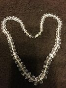 """✨supersale✨20's Austrian Crystal Faceted Bead 20"""" Necklace W/ss Filigreed Clasp"""