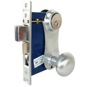 Marks 21ac Right Hand Reverse Double Cylinder Ornamental Knob Plate Mortise Lock