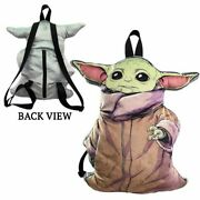 Star Wars The Child Baby Yoda 3d Shaped Plush Backpack 16 Inches New With Tag