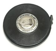Vintage The Lufkin Rule Co, Chrome Clad Steel Tape, Anchor 100 Ft, C216