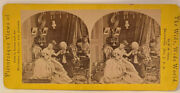 Vintage Collectible Stereoview Shy And December Litho Photo L42