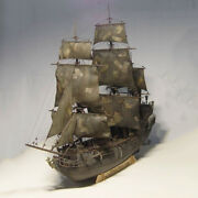 New 1/75 Pirates Of The Caribbean Black Pearl Wooden Sailing Ship Model Kit Toy