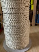 """5/16"""" X 330 Ft. Technora Uncoated 12 Strand Hollow Braid Rope. Made In Usa"""